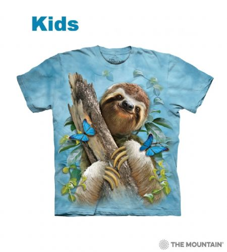 Kids Sloth & Butterflies T-shirt | The Mountain®
